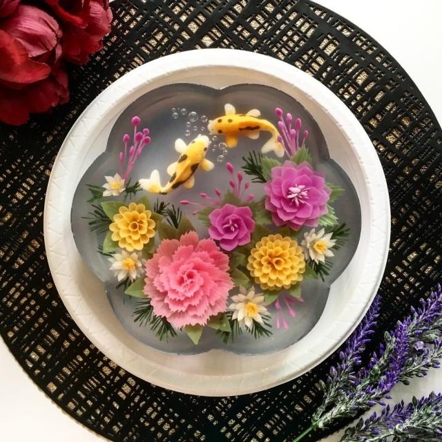 本物のお花を閉じ込めたようなケーキの画像(20枚目)