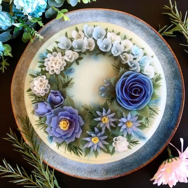 本物のお花を閉じ込めたようなケーキの画像(4枚目)