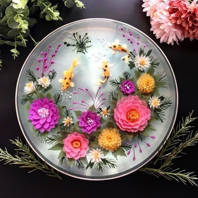 本物のお花を閉じ込めたようなケーキの画像(5枚目)