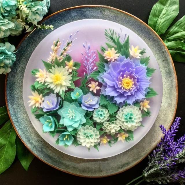 本物のお花を閉じ込めたようなケーキの画像(6枚目)