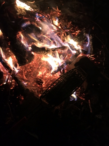 お肉と大量のアスパラを一気に焼ける網03