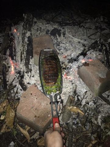 お肉と大量のアスパラを一気に焼ける網05