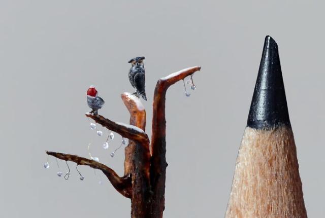 小さ過ぎる鳥の彫刻の画像(6枚目)