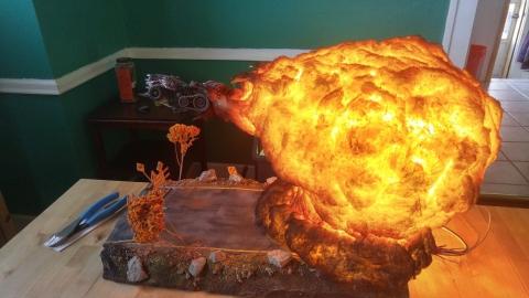 爆風がリアル過ぎるジオラマ模型06