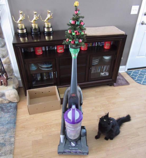 猫や犬がいる家のクリスマスツリーの画像(14枚目)