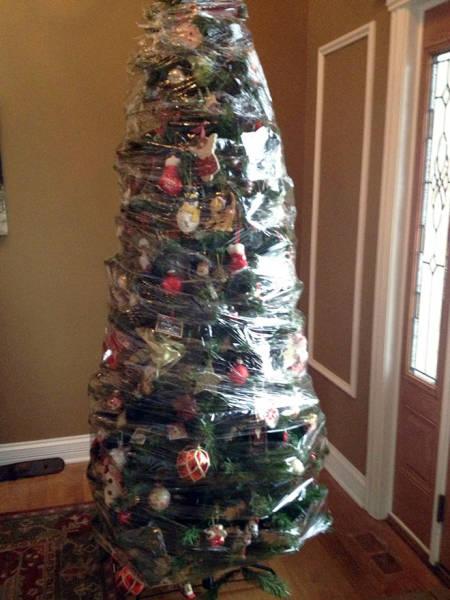 猫や犬がいる家のクリスマスツリーの画像(7枚目)