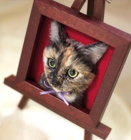 立体的な3Dの猫の肖像の画像(10枚目)