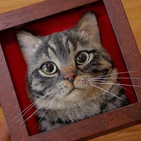 立体的な3Dの猫の肖像の画像(2枚目)