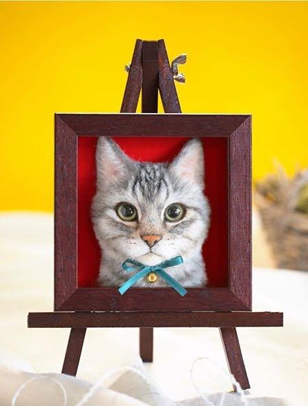 立体的な3Dの猫の肖像の画像(6枚目)