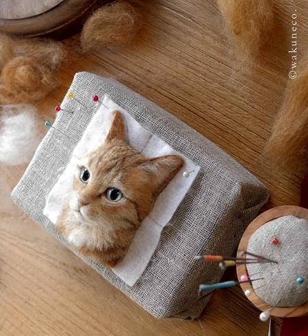 立体的な3Dの猫の肖像の画像(9枚目)