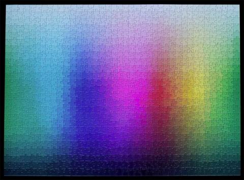 1000色を使ったジグソーパズル01
