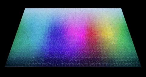 1000色を使ったジグソーパズル02