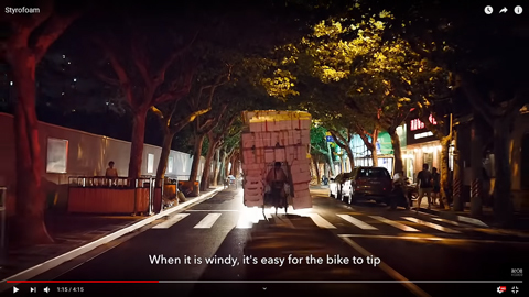 発泡スチロールの容器を自転車に積む理由02