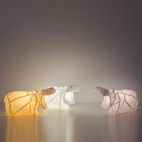 動物型のペーパーランプ01