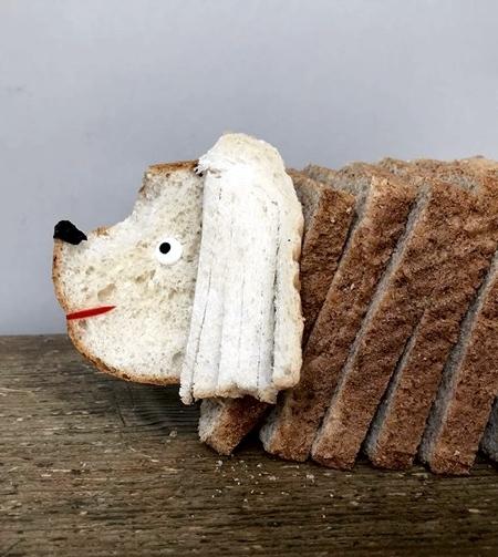 パンで作った可愛いキャラクター01