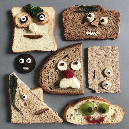 パンで作った可愛いキャラクター02