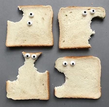 パンで作った可愛いキャラクター04