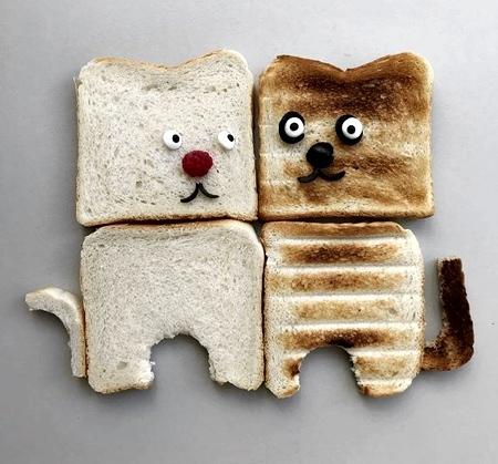 パンで作った可愛いキャラクター06