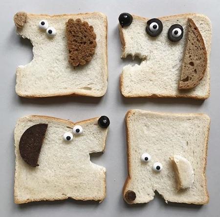 パンで作った可愛いキャラクター08