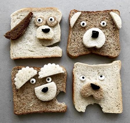 パンで作った可愛いキャラクター09