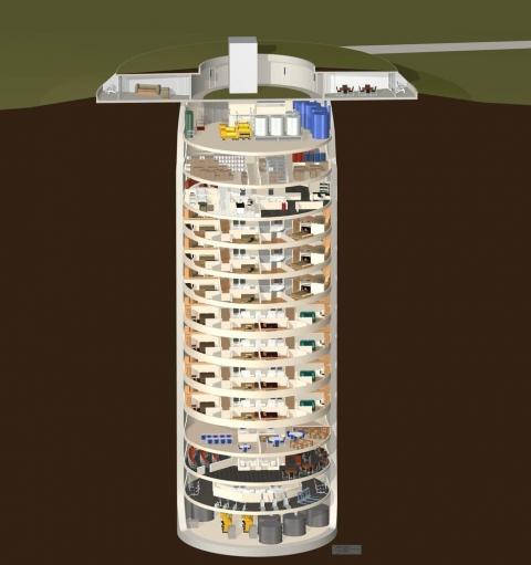 元ミサイル発射施設を使ったマンション02