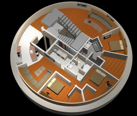 元ミサイル発射施設を使ったマンション03