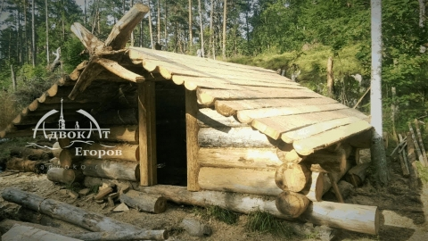 ロシアのログハウス01