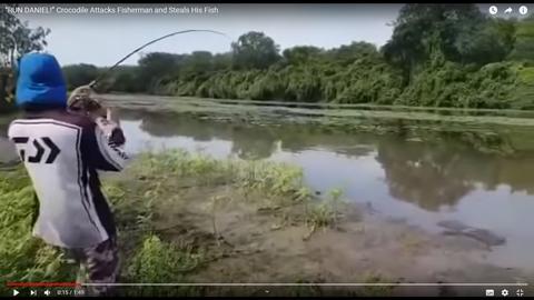 巨大なワニが釣れる02
