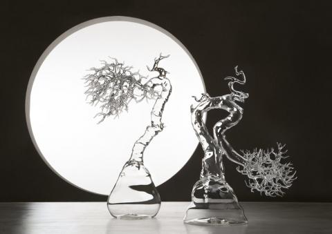 ガラスで出来た盆栽03