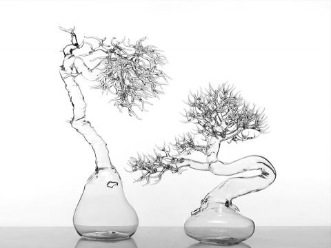 ガラスで出来た盆栽02