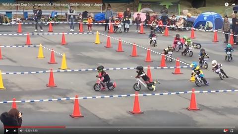 4歳の自転車レース03