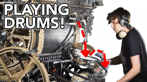 謎の鉄球の歯車のマシン01