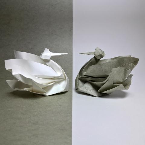 折紙でできた動物04