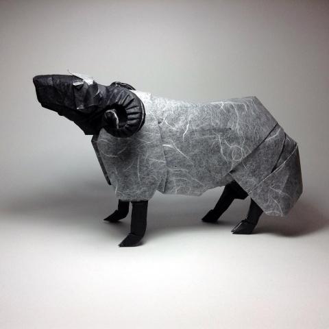 折紙でできた動物07