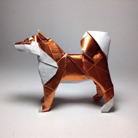 折紙でできた動物12