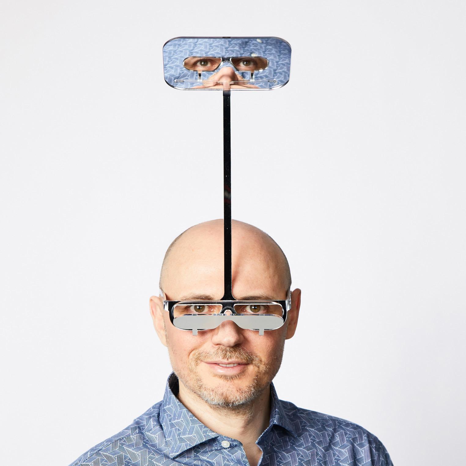 遠くが見える!潜望鏡のようなメガネ!!