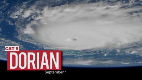 最強勢力の台風「ドリアン」01