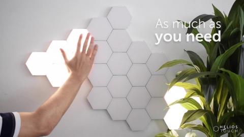 六角形のライト01