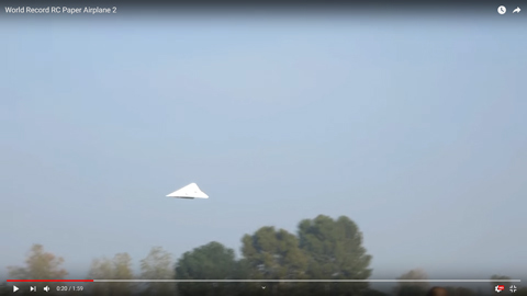 紙飛行機の型のラジコン03