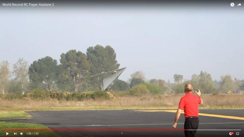 紙飛行機の型のラジコン04