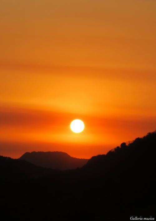 春の夕焼け2