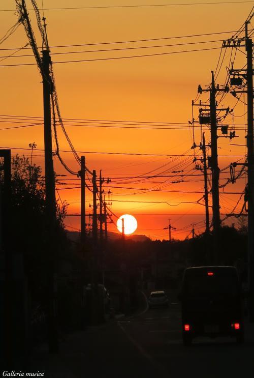 春の夕焼け1