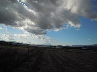 太陽が雲の中に入った181230