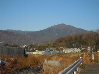 バス停までの道、大山くっきり190103