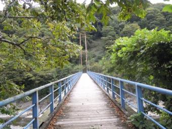 谷峨駅近くのつり橋190929