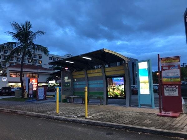 グアム バス停 3