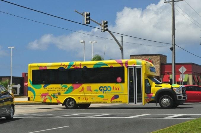 グアム タモンサンズプラザ~グアムプレミアムアウトレット 無料シャトルバス