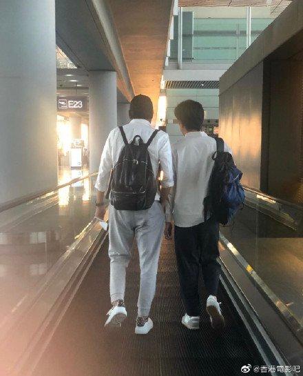 トニーさん&レオン・カーファイ@北京空港2