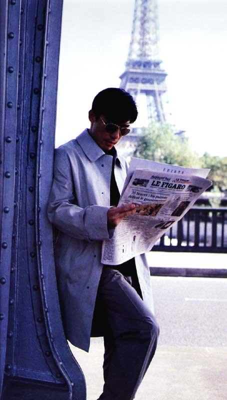 トニーさん@パリで撮影中