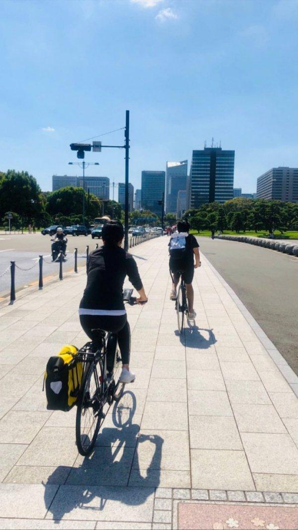 トニーさん&カリーナ@都心サイクリング